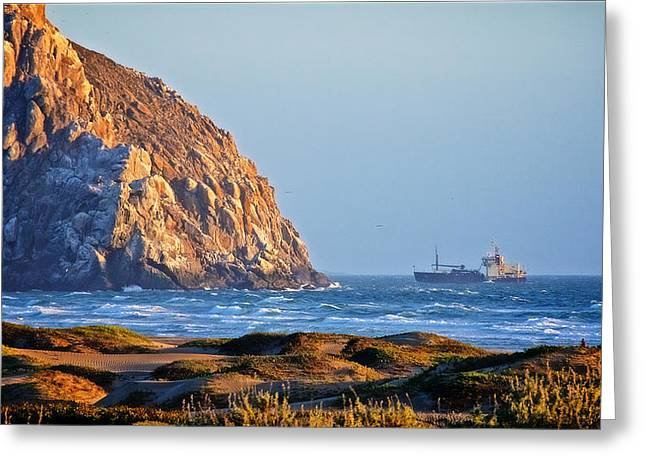 Fishing Trawler At Morro Rock Greeting Card