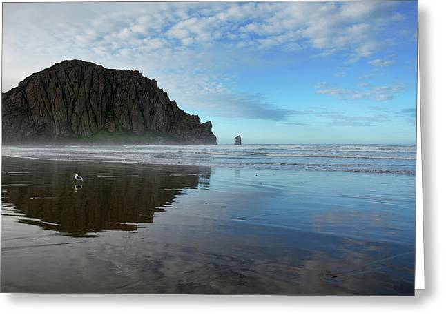 Morro Rock Reflection Greeting Card