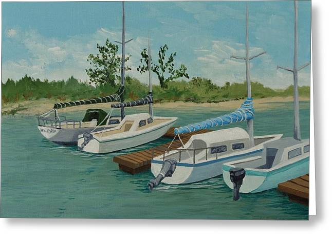 Greeting Card featuring the painting Morro Bay State Park Ca by Katherine Young-Beck