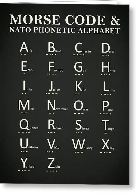 Morse Code And Phonetic Alphabet Greeting Card