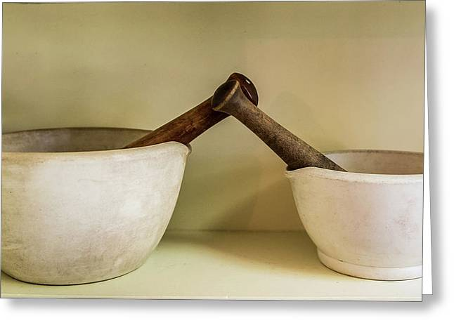 Greeting Card featuring the photograph Mortar And Pestle by Paul Freidlund