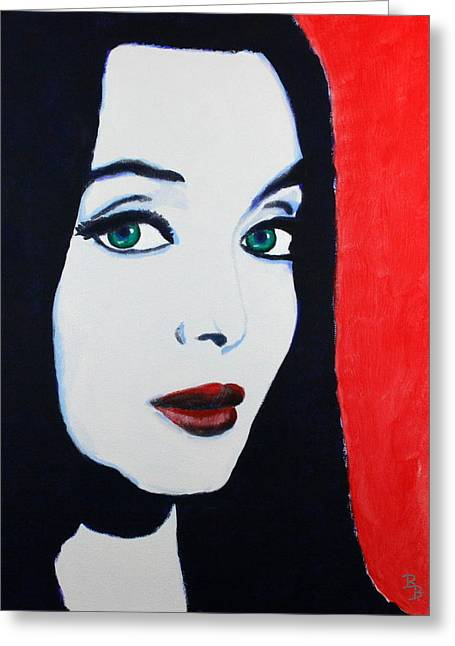 Morticia Addams Greeting Card