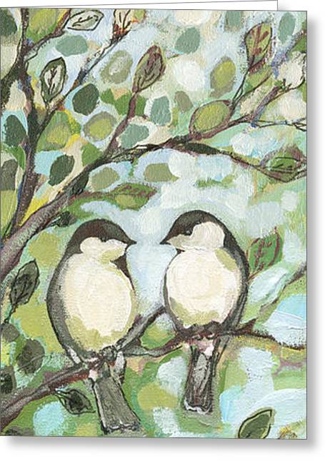 Mo's Chickadees Greeting Card