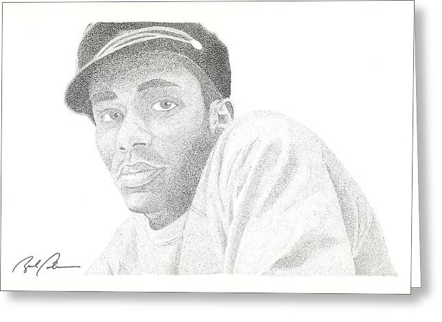 Mos Def Greeting Card by Brad Coleman