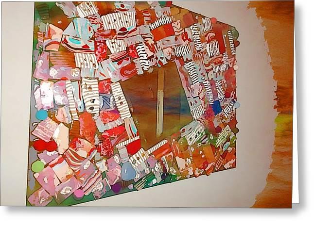 Mosaic Abstract Polymer Mirror Greeting Card