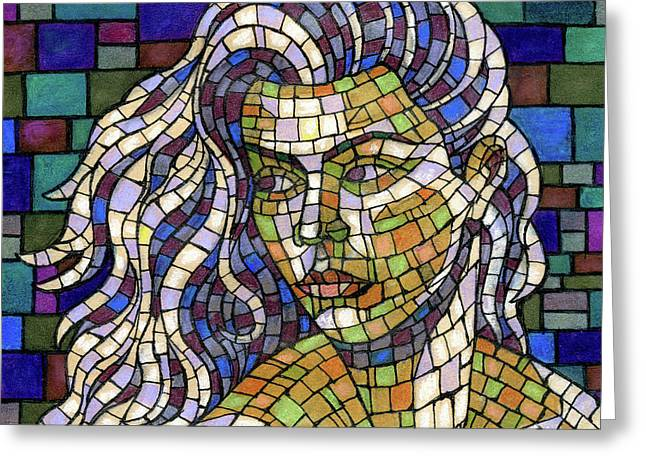 Mosaic Beauty Greeting Card by Richard Votch