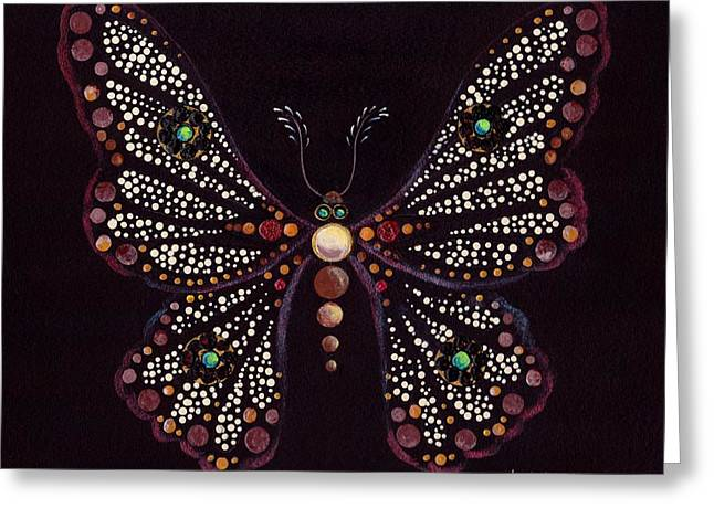 Mosaic Butterfly Greeting Card by Anita Carden