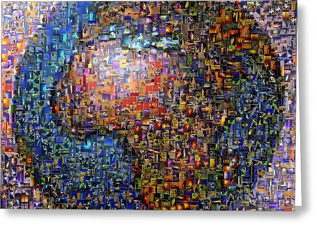 Mosaic Earth 2 Greeting Card by Yury Malkov