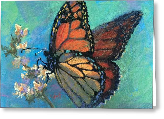 Mosaic Monarch Greeting Card by Donna Shortt
