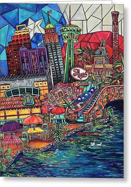 Mosaic River Greeting Card