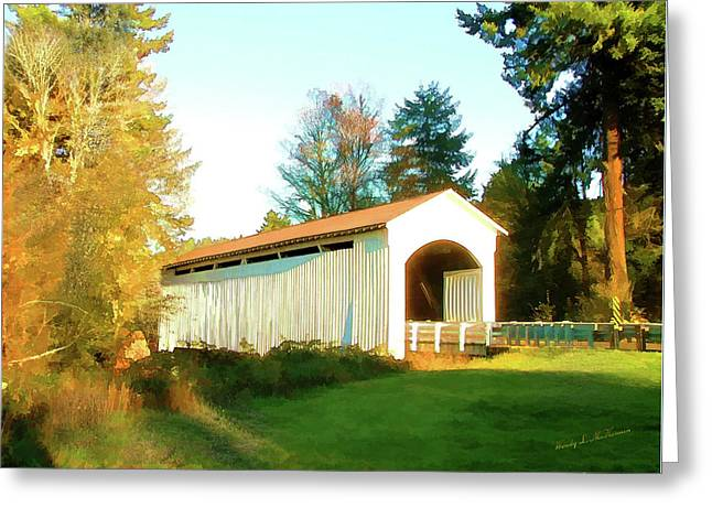 Mosby Creek Covered Bridge Greeting Card
