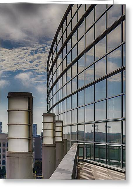 Greeting Card featuring the photograph Moscone West Balcony by Darcy Michaelchuk