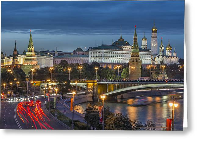 Moscow At Night Greeting Card