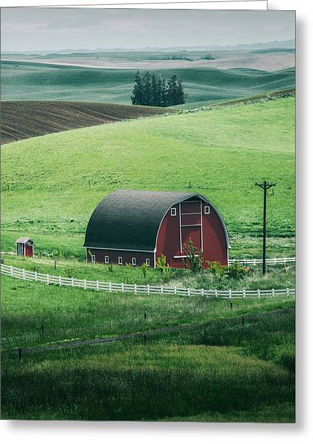Moscow Barn Greeting Card by Vincent James