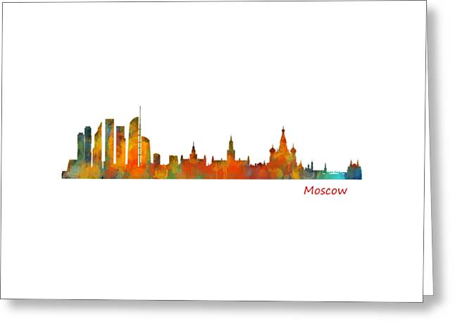 Moscow City Skyline Hq V1 Greeting Card by HQ Photo