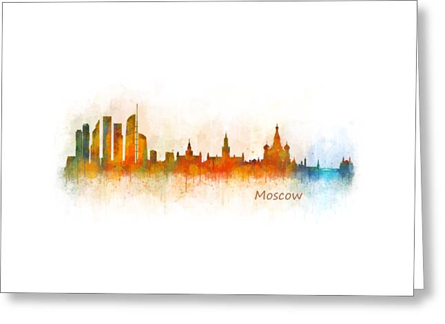 Moscow City Skyline Hq V3 Greeting Card by HQ Photo