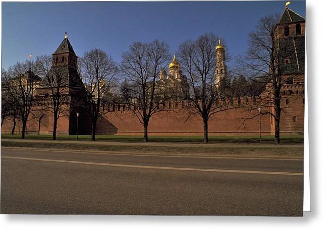 Greeting Card featuring the photograph Moscow Kremlin In Winter by Travel Pics