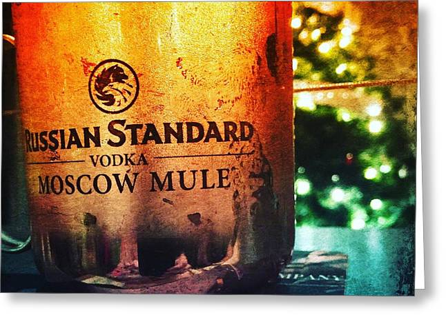 Moscow Mule Greeting Card by Judy Bernier