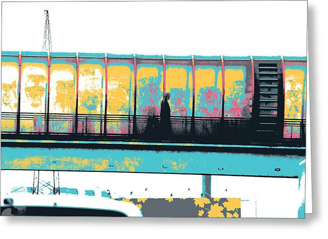 Moscow Overpass Greeting Card by Shay Culligan