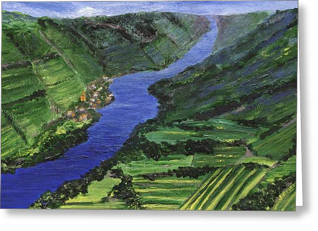 Greeting Card featuring the painting Moselle River by Jamie Frier