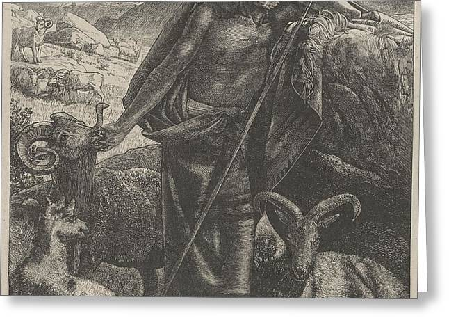 Moses Keeping Jethro's Sheep Greeting Card