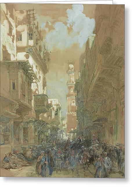 Mosque El Mooristan In Cairo Greeting Card