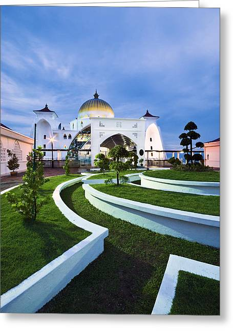 Greeting Card featuring the photograph Mosque In Malaysia by Ng Hock How