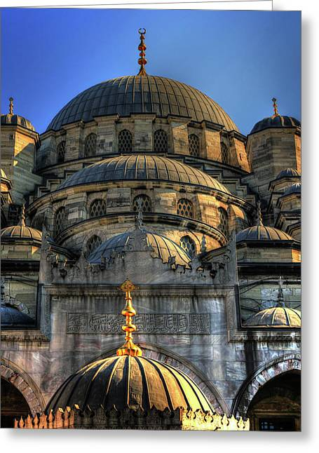 Greeting Card featuring the photograph Mosque by Tom Prendergast