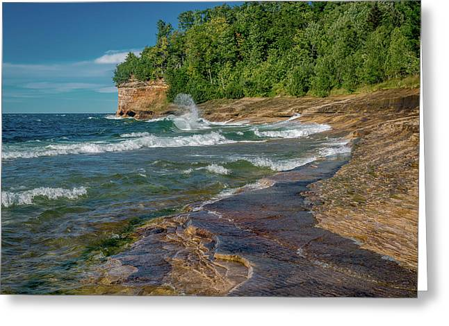Mosquito Harbor Waves  Greeting Card