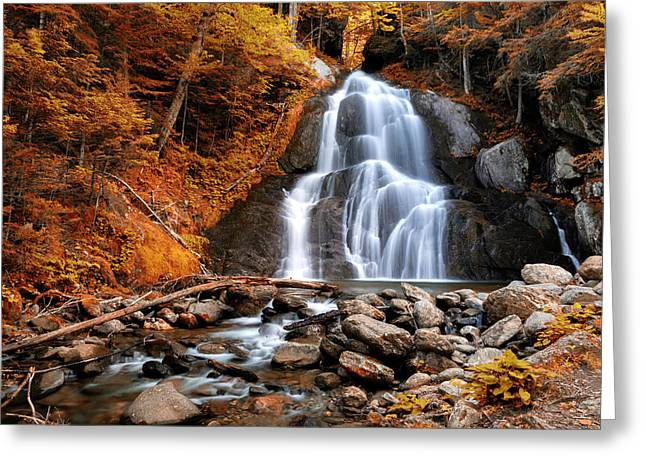 Moss Glen Falls - Indian Summer Greeting Card by Stephen Stookey