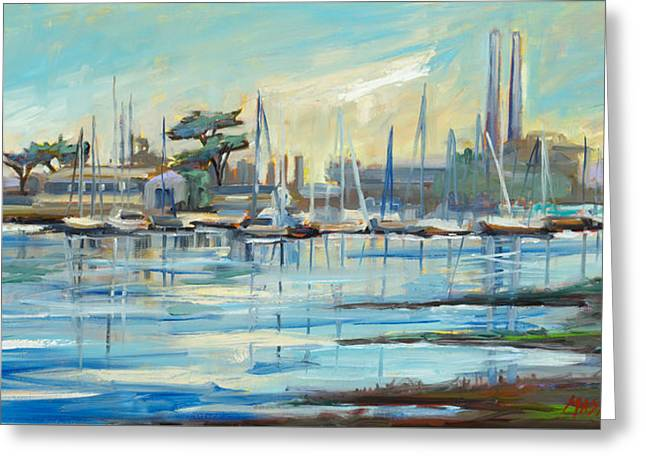 Moss Landing Harbor Greeting Card