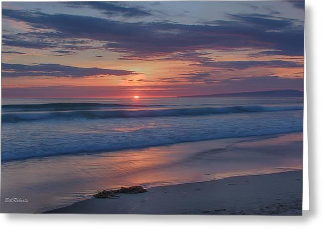 Moss Landing Sundown Greeting Card by Bill Roberts
