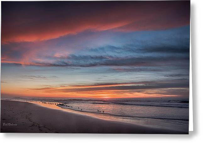 Moss Landing Sunset Greeting Card by Bill Roberts