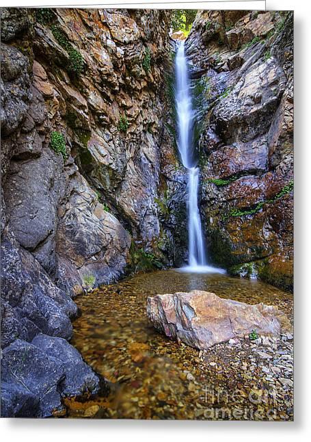 Moss Ledge Waterfall Greeting Card
