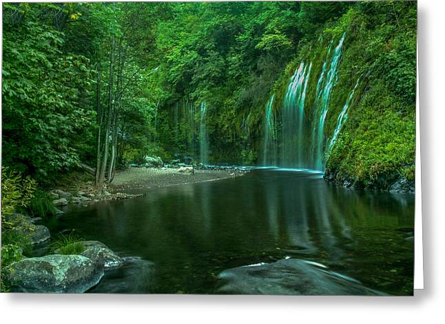 Mossbrae Falls Greeting Card by Michele James