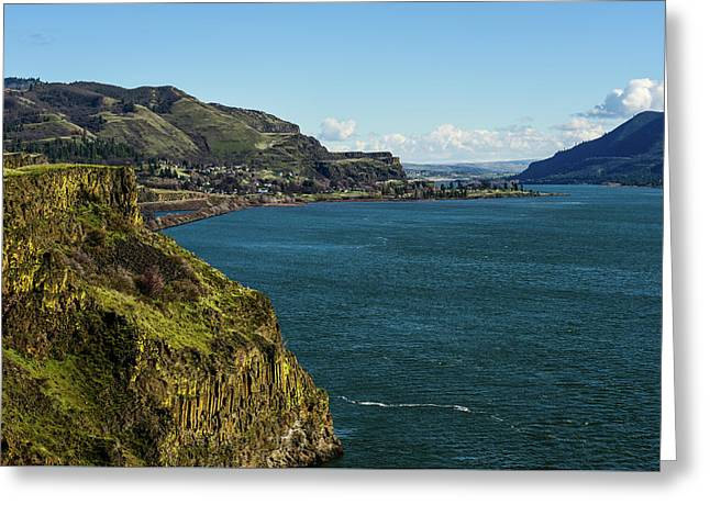 Mossy Cliffs On The Columbia Greeting Card