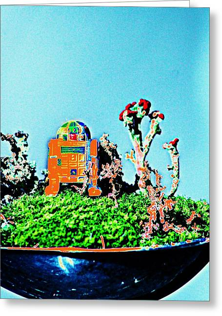 Mossy R2d2 1 Greeting Card