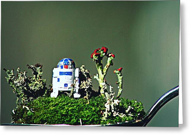 Mossy R2d2 2 Greeting Card