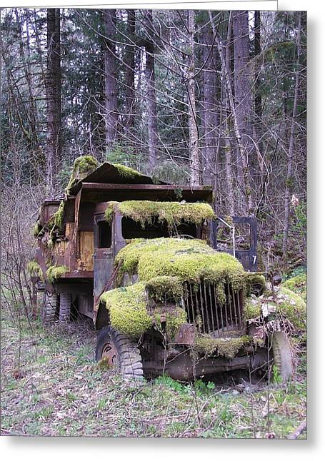 Mossy Truck Greeting Card by Gene Ritchhart