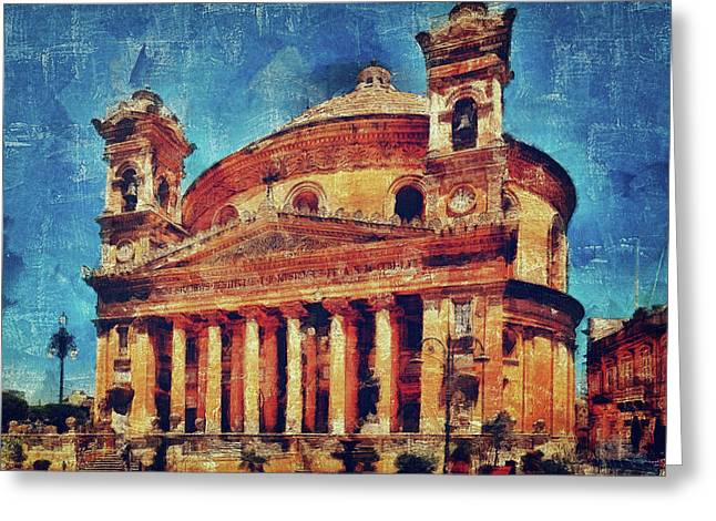 Mosta Church Greeting Card