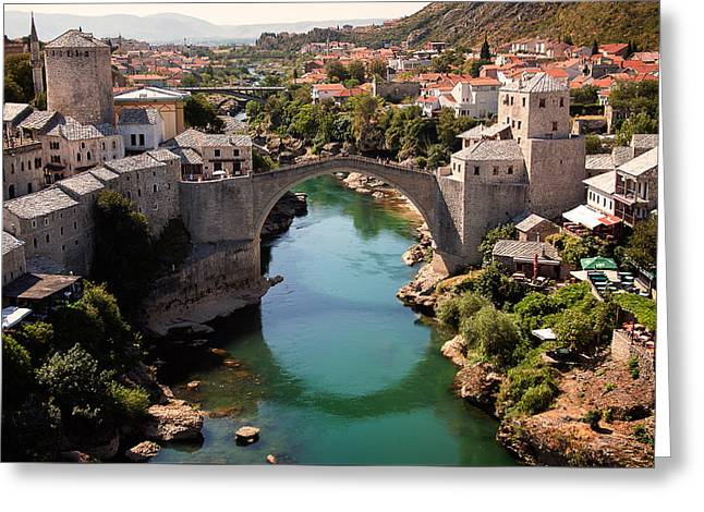 Mostar Greeting Card by Blaz Gvajc