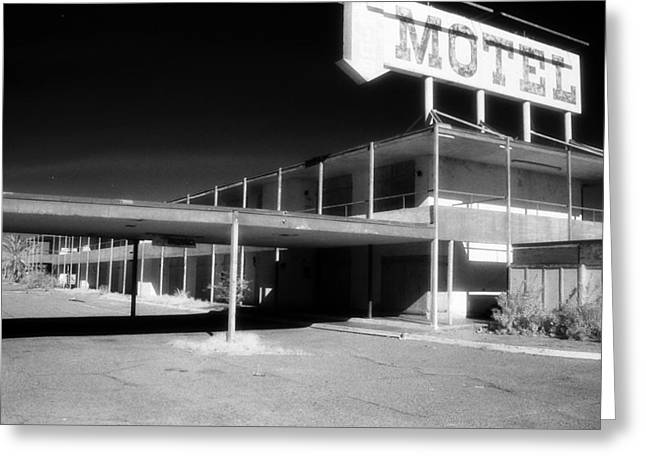 Motel Nowhere Greeting Card by Bruce Wayne