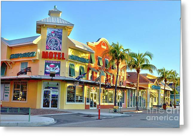 Motel On Fort Myers Beach Florida Greeting Card by Timothy Lowry