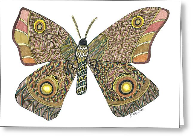 Moth Greeting Card