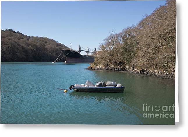 Mothballed On The River Fal Greeting Card