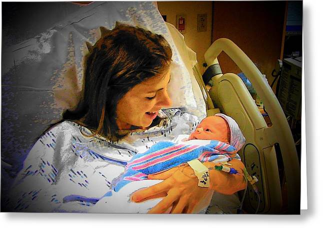 Mother And Babe Greeting Card by Joyce Kimble Smith