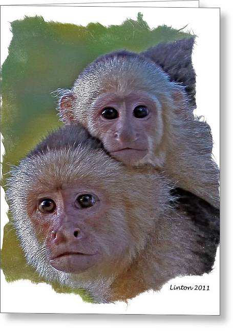 Mother And Baby Greeting Card by Larry Linton