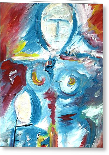 Mother And Child 2 Greeting Card by Mimo Krouzian
