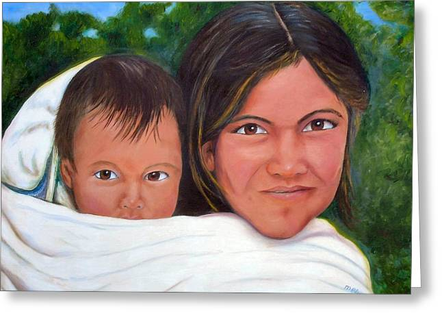 Mother And Child Greeting Card by Merle Blair