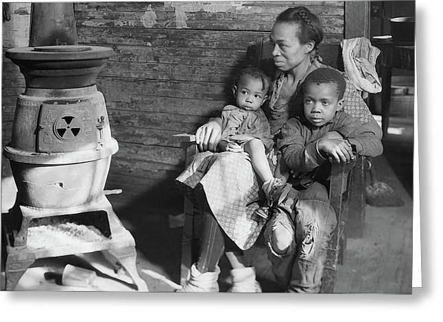 Mother And Children During The Great Depression - West Virginia 1937 Greeting Card by U S N A